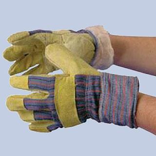 Перчатки спилковые с искусственным мехом