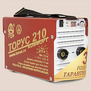 ТОРУС 210 КОМФОРТ сварочный инвертор (Россия)