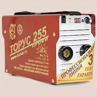 ТОРУС-255 ПРОФИ сварочный инвертор (Россия)