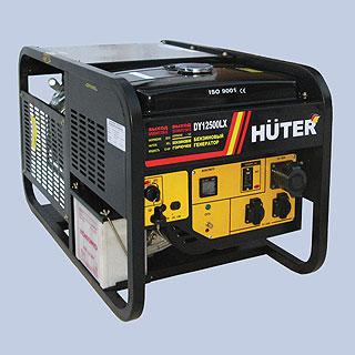 Электрогенератор Huter DY12500LX с колесами бензиновый (Германия)