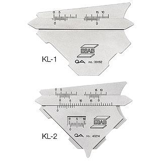 Шаблон сварщика KL-1 и KL-2 ESAB Fillet Gauge ESAB (ЭСАБ)