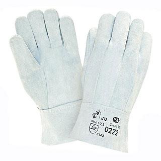 Спилковые перчатки серые арт.0222