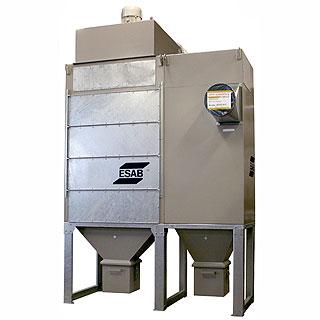 Система фильтрации тонкодисперсной пыли с вентилятором