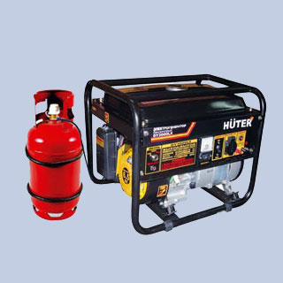 Комплект для работы на газу генераторов Huter