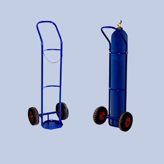 ГБ1 Тележка для перевозки одного баллона (пневмо- или литые колеса)