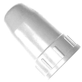 Колпак для баллонов защитный металлический ацетиленовый (белый)