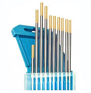 Вольфрамовые электроды WL 15 (цвет золотой) с различным диаметром