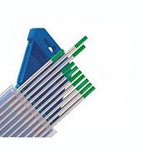 Вольфрамовые электроды WP (цвет зеленый) с различным диаметром